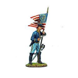Коллекционный солдатик, Гражданская война США, Спешившийся Знаменосец кавалерийского корпуса