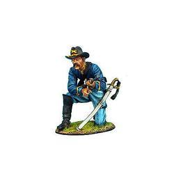 Коллекционный солдатик, Гражданская война США, Спешившийся Кавалерист перезаряжающийся на колене