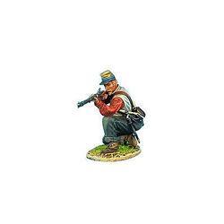 Коллекционный солдатик, Гражданская война США, Пехотинец 13-го Алабамского полка, стрельба с колена