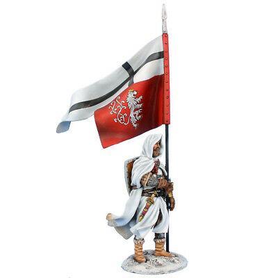 Коллекционный солдатик, Рыцари Крестоносцы, Рыцарь Тевтонского ордена со штандартом