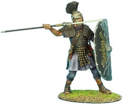 Коллекционный солдатик. Слава Рима. Преторианский Гвардеец Римской Империи, с пилумом № 1