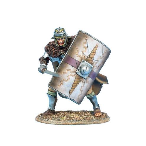 Коллекционный солдатик. Слава Рима. Легионер XIIII Легиона Имперской армии, с щитом и гладиусом