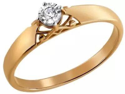 Золотое кольцо SOKOLOV 1011159_17