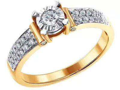Золотое кольцо SOKOLOV 1011115_17
