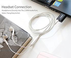 USB звуковая карта HAGIBIS, USB - 3.5mm jack audio, для ПК и Ноутбуков, Наушники + микрофон 2в1, фото 3