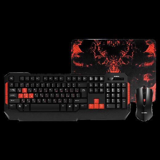 SVEN Игровой набор клавиатура+мышь+коврик SVEN GS-9000 /
