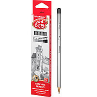 ErichKrause Чернографитные шестигранные карандаши ArtBerry® 45389 2H H HB HB B 2B (коробка 6 карандашей)