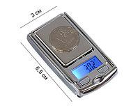 Весы LuazON LuazON LVU-03 , портативные, электронные, до 200 гр, черный/хром, фото 1