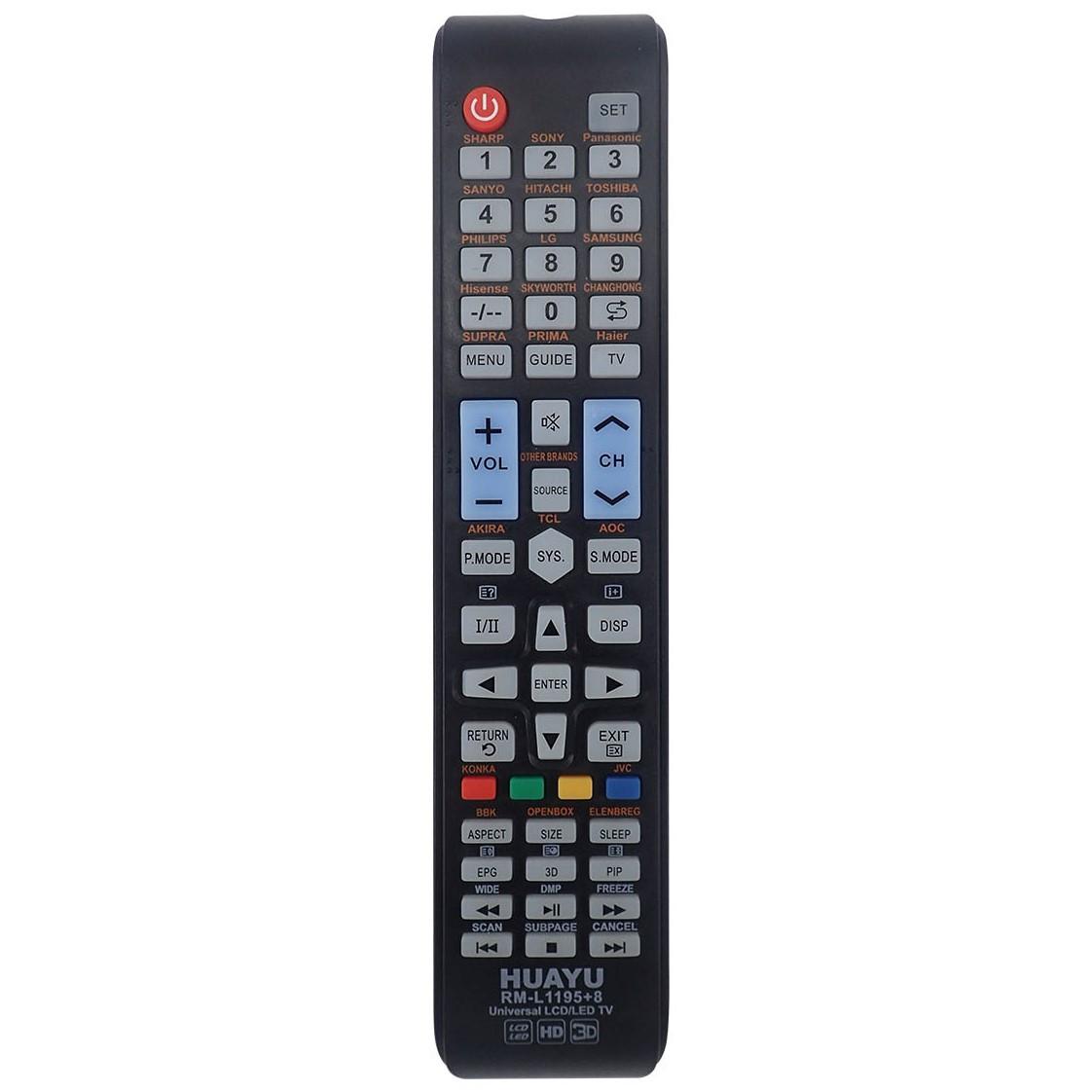 Универсальный пульт ДУ для телевизоров HUAYU RM-L1195+8 (черный)
