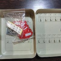 Шкафчик для 20 ключей, 200x160x80мм, настенный, серый стальной ProfiOffice, фото 2