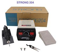 """Машинка для маникюра и педикюра """"Strong 204"""" (35000 об/мин)(ручка Корея)"""
