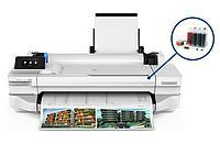 Плоттер HP Designjet T125 с СНПЧ и чернилами
