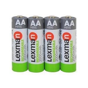 Аккумуляторы [перезаряжаемые батарейки] NiMH LEXMAN GREEN {4 шт., pre-charged} (АА / 2000 mAh)