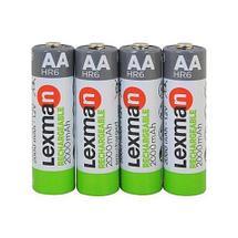 Аккумуляторы [перезаряжаемые батарейки] NiMH LEXMAN GREEN {4 шт., pre-charged} (ААА / 900 mAh), фото 2