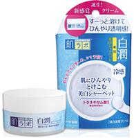 ROHTO HADA LABO Shirojyun White Sherbet Отбеливающий охлаждающий крем-щербет для лица, 30 гр