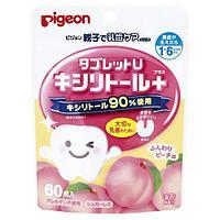 Детские леденцы для укрепления зубов со вкусом персика New, 60 штук, Pigeon