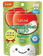 Детские леденцы Teteo для защиты молочных зубов от кариеса со вкусом яблока, 60 штук, Combi