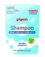 Шампунь-пена с кондиционирующим эффектом, мягкая упаковка, сменный блок , 300 мл, Pigeon