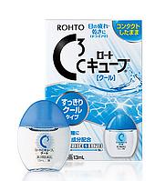 Rohto C3 Сool - легкие освежающие капли от усталости глаз при ношении жестких контактных линз,13 мл