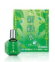 Rohto SHINRYOKUSUI (Rohto Morning) - японские увлажняющие и освежающие капли для утреннего применения,13 мл