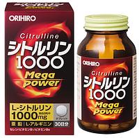 Orihiro Citrulline Mega Power 1000 Цитруллин, 240 штук