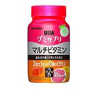 UHA Gummy Supple Multivitamin Жевательные мультивитамины, со вкусом грейпфрута, 60 штук на 30 дней