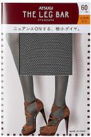 ATSUGI The Leg BAR Standard Женские колготки с мини-алмазным узором 60 DEN, цвет черный, размер L-LL