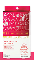 "KRACIE Hadabisei Make up damage care (moisture) Маска для лица ""Уход за макияжем"", 3шт, увлажняющая"