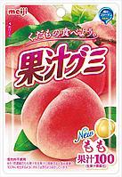 Meiji Gummy Fruit juice peach Жевательные конфеты с коллагеном, со вкусом персика, 51гр