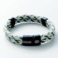 Colantotte Loop AMU bracelet Магнитный браслет, цвет Оливковый / Белый, размер M