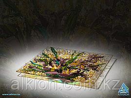 Стеклянная тарелка «Лилии» (Сувенир)
