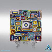 Стеклянная тарелка «Геометрия» (Сувенир)