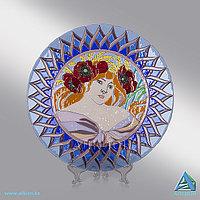 Стеклянное блюдо «Лето» (Сувенир)