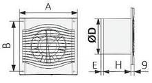 SLIM 5, Вентилятор осевой вытяжной D 125