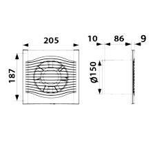 SLIM 6, Вентилятор осевой вытяжной D 150
