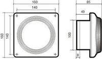 DISC 4, Вентилятор осевой вытяжной D 100