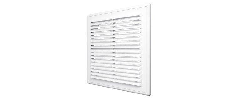 2121Р, Решетка вентиляционная вытяжная АБС 208х208, бел