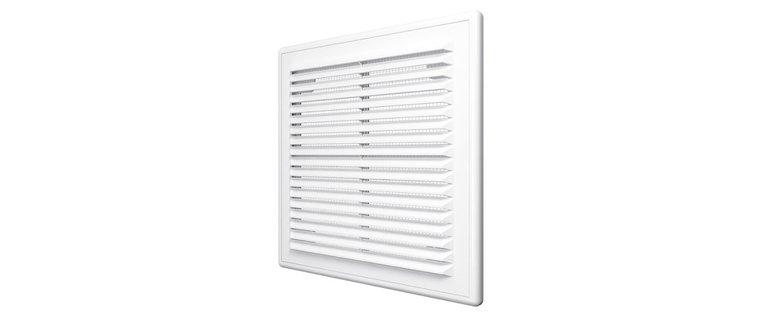 2525Р, Решетка вентиляционная вытяжная АБС 249х249, бел.