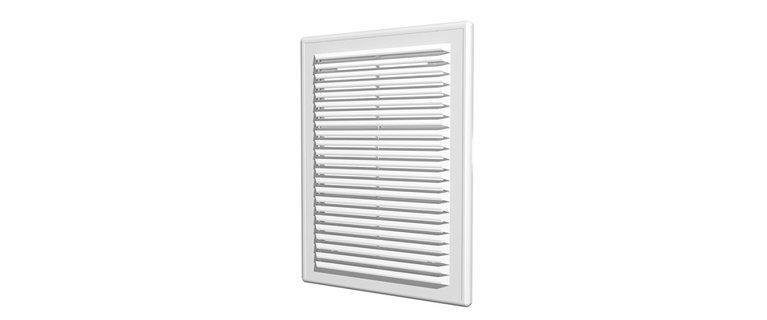 1825Р, Решетка вентиляционная вытяжная АБС 183х253, бел.