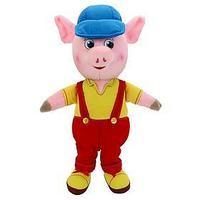 Мягкая музыкальная игрушка 'Поросёнок' в комбинезоне и кепке, 26 см