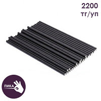 """Трубочки бумажные """"Black"""" прямые d=6 мм, L = 195 мм, чёрные"""