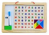 Деревянная доска для рисования(буквы и цифры)