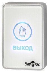 Кнопка выхода Smartec ST-EX020LSM-WT, белая, накладная, сенсорная