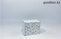 "Подарочная коробка ""Сердечки"" (белая)"