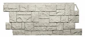 Фасадные панели Жемчужный 1123x465 мм Дикий камень FINEBER