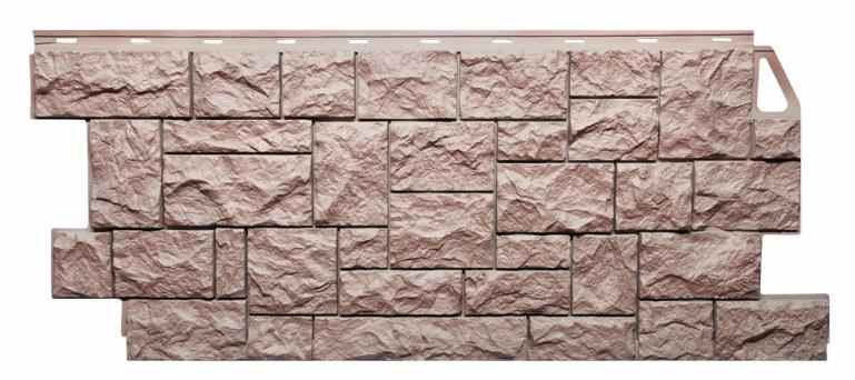 Фасадные панели Терракотовый 1123x465 мм ( 0,44 м2) Камень дикий  FINEBER