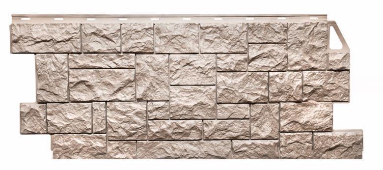 Фасадные панели Песочный 1123x465 мм Дикий камень FINEBER