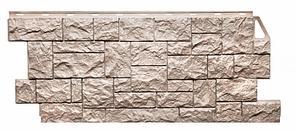 Фасадные панели Песочный 1123x465 мм ( 0,44 м2) Камень дикий  FINEBER