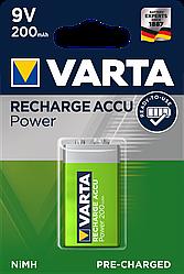 Заряжаемые Аккумуляторные Батарейки VARTA 9V Крона 200 mAh (блистер)