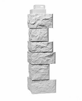 Угол Наружный Белый 485х143х143 мм Дикий камень FINEBER